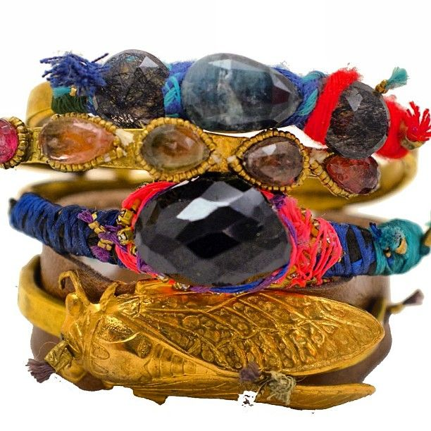 DePetra - bracelets, mixed materials
