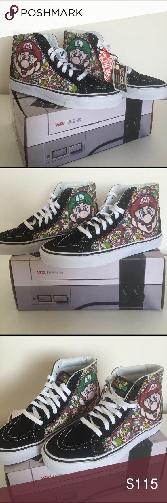 💥NEW💥 Nintendo Super Mario Bros. High Top Vans ⚡️NEW ⚡️ RAD ⚡️Nintendo Mario and Luigi High Top Vans! Unisex men's size 6.5, women's size 8 Vans Shoes Sneakers