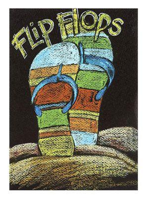 Flip Flops Canvas Art | OceanStyles.com