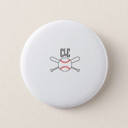 CLE Cleveland Baseball Gift Pinback Button - cool gift idea unique present special diy
