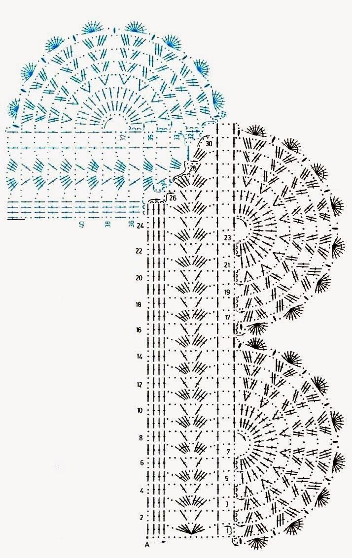 Crochet Y Tricot Septiembre 2015 Crochetcircularedgepatterndiagram 7 7141 133