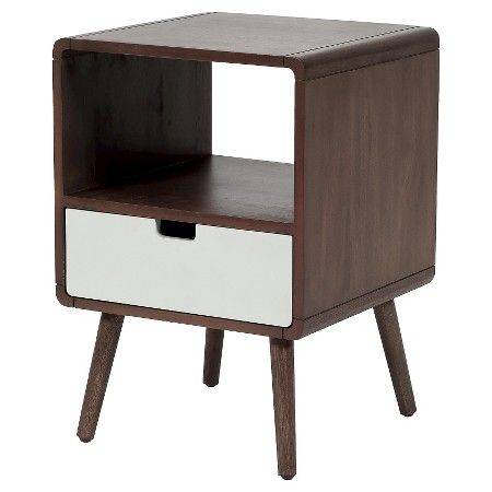 1 Drawer Mid-Century Kids Nightstand - Pillowfort™ : Target