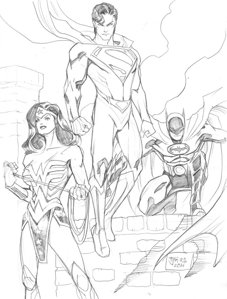 Wonder Woman, Superman, & Batman by tjsketchblog - I love ...