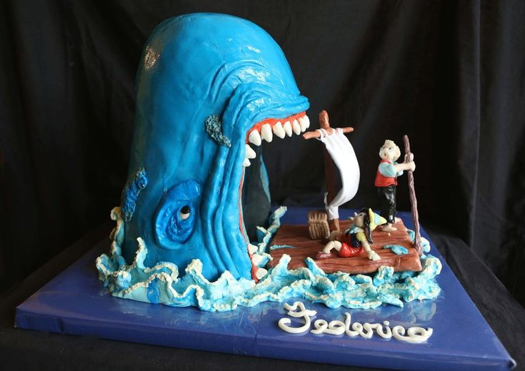 Pinocchio e la Balena - by Le torte di Anny @ CakesDecor.com - cake decorating website