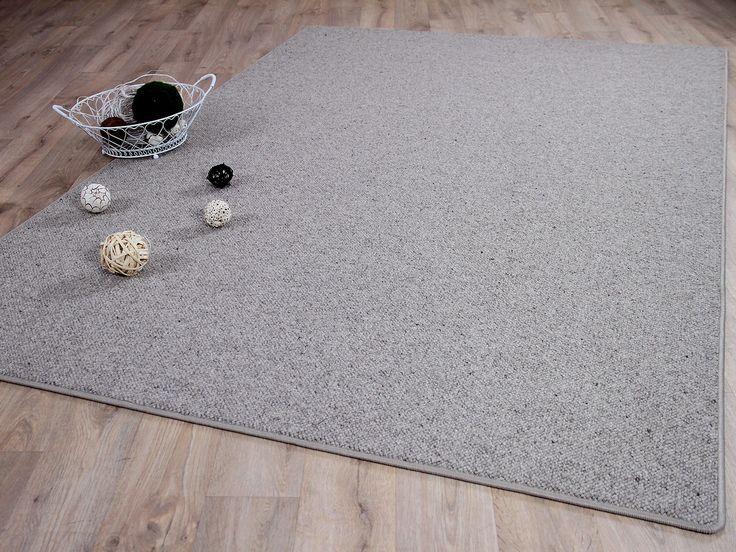 Natur Teppich Wolle Berber Grau Meliert in 24 Größen Teppiche Sisal und Naturteppiche Berber Teppiche