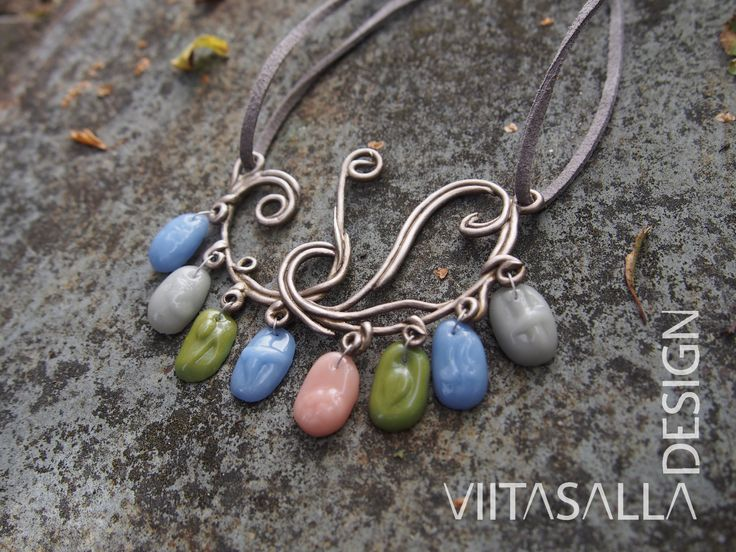 'Bound Together' - the winner of the Lights On! Jewellery Design Competition 2016 by Viitasalla Design #bronze #bronzeclay #metalclay #glassclay #glass #jewelry #jewellery