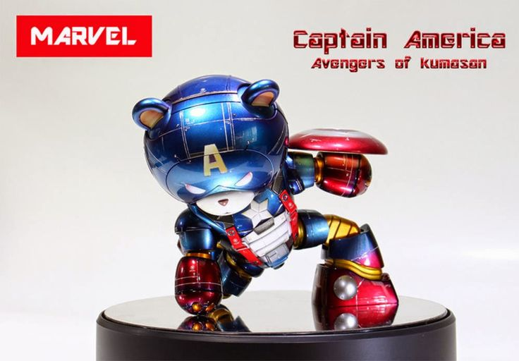 "Custom Build: HGBF 1/144 Beargguy III ""Captain America ver ..."