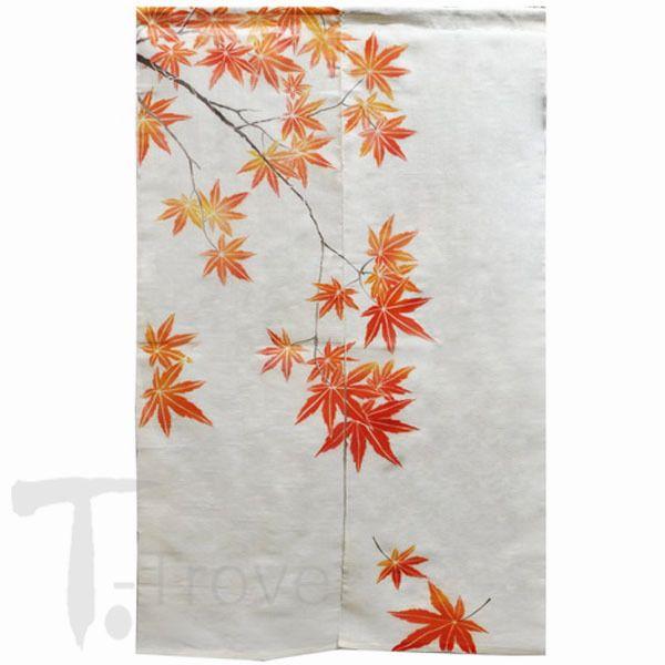 T-Trove Asian Decor - Maple Leaves White Linen Noren Curtain, $52.00 (http://www.t-trove.com/maple-leaves-white-linen-noren-curtain/)
