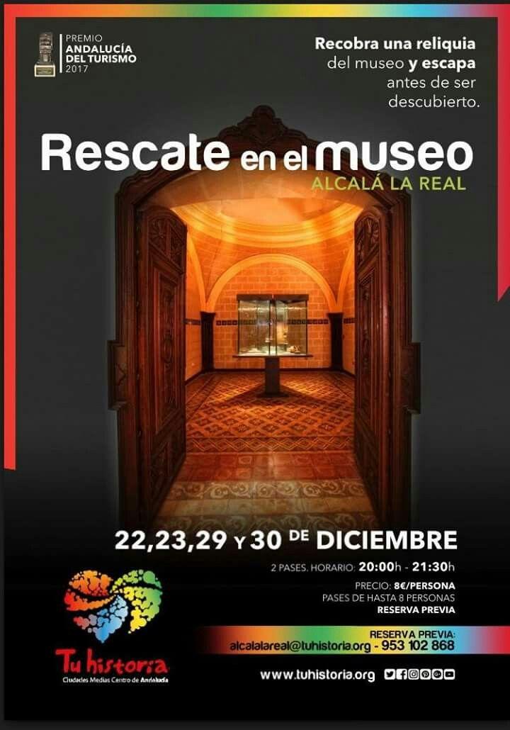 Tienes 60 minutos para salir del Museo y recuperar la obra de arte. ¿Aceptas el reto? Plazas limitadas. #AlcalálaReal #tuhistoriaenotoño