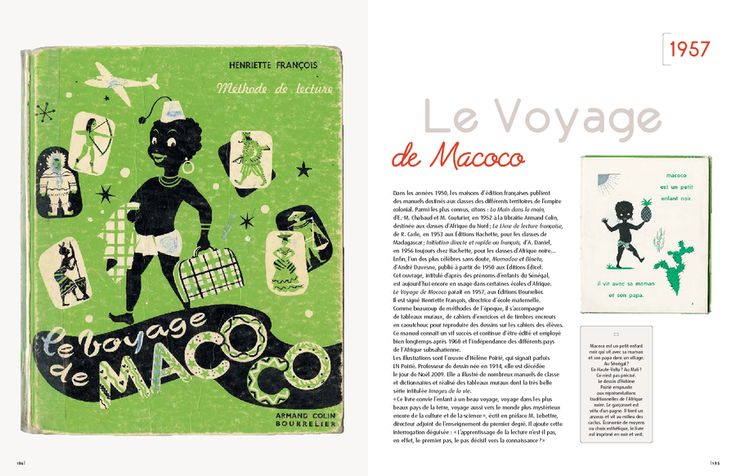 "In the '50s, publishers publish textbooks for territories of the colonial empire. ""The trip Macoco"" ..."