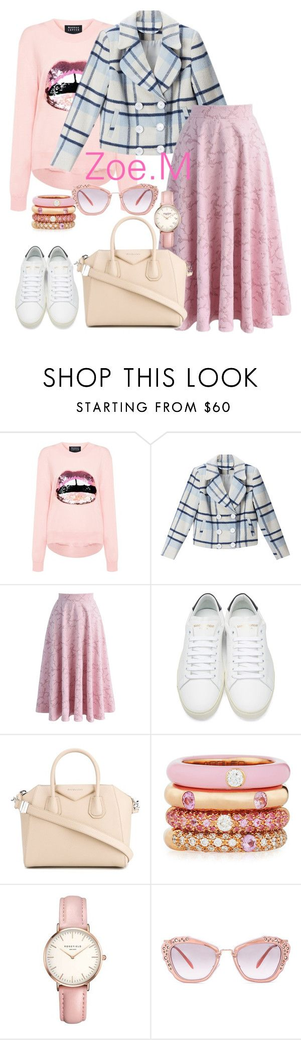 """Untitled #1223"" by zoemyint ❤ liked on Polyvore featuring Markus Lupfer, BLUE NOTCH, Chicwish, Yves Saint Laurent, Givenchy, Adolfo Courrier, Topshop and Miu Miu"