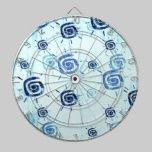 Light Blue Contemporary Sun Pattern dartboards