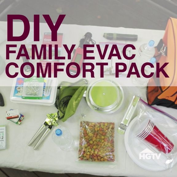 DIY Family Emergency Evacuation Pack