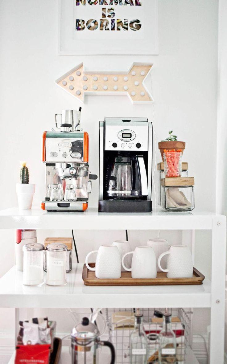 【整然と使い易く】片隅のお茶専用の収納スペース | 住宅デザイン