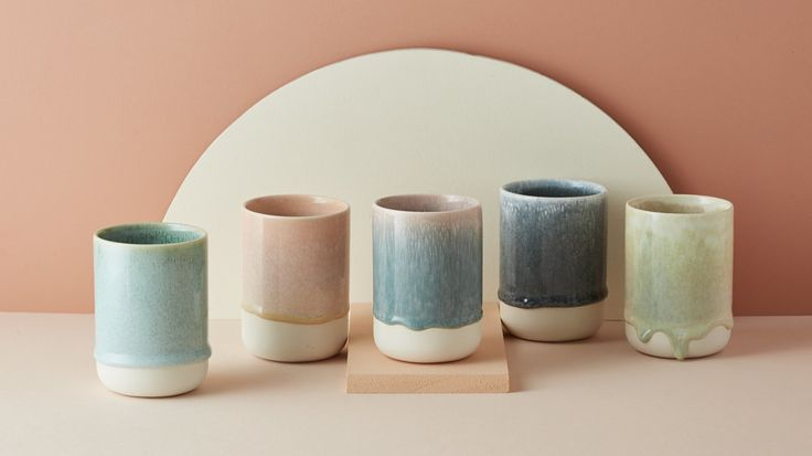 Studio Arhoj Slurp Cup in a unique range of different glazes and finishes.  - 100% Porcelain Cup  - Glazed Finish  - 7cm x 10cm  - Dishwasher & Microwave Safe  *Please note each cup is sold separately, and you will receive one cup of a  random mix colour, we will do our best to send y