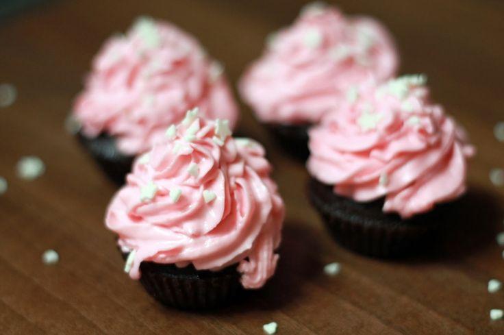 Čokoládové cupcakes s mascarpone krémem