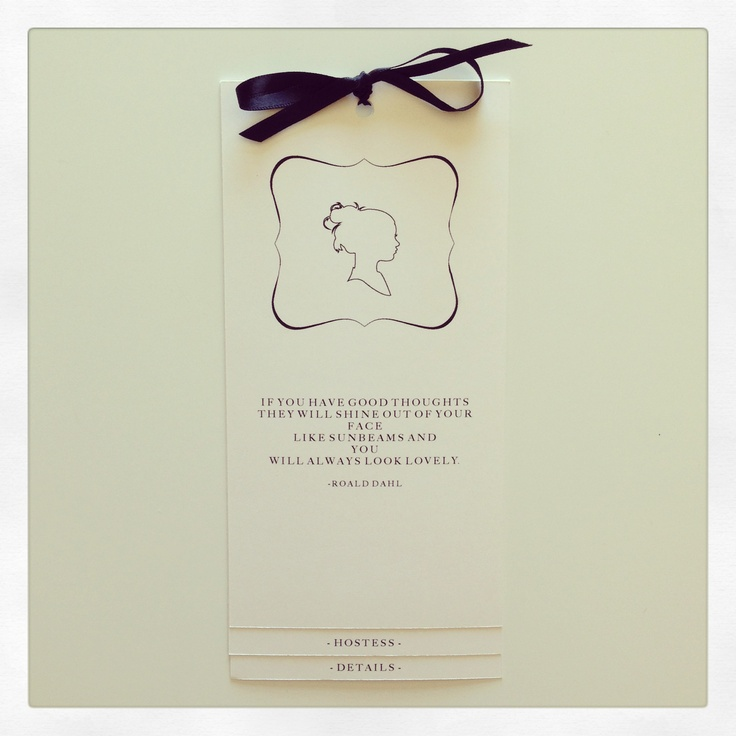 Silhouette inspired invitation. Perfect for a bridal shower.