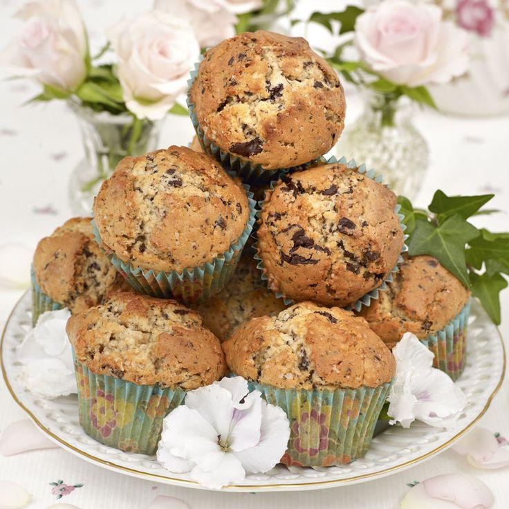 Åh så gott! Choklad och jordnötter sätter smak på de här maffiga muffinsen.
