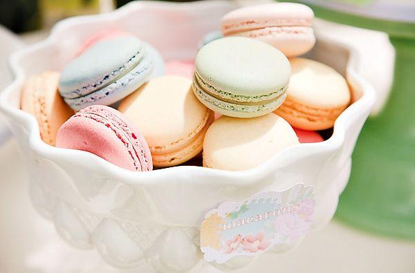 Vintage Summer Garden Party {First Birthday} by Leo & Bella Events  vintage-pastel-macarons