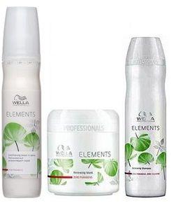 Wella Elements - Zestaw Szampon,Maska i Odżywka Dwufazowa w Sprayu