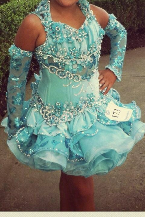 """Glitz pageant dress for  """"Something Blue"""" contest"""