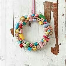 Spool wreath Ramona Meyers