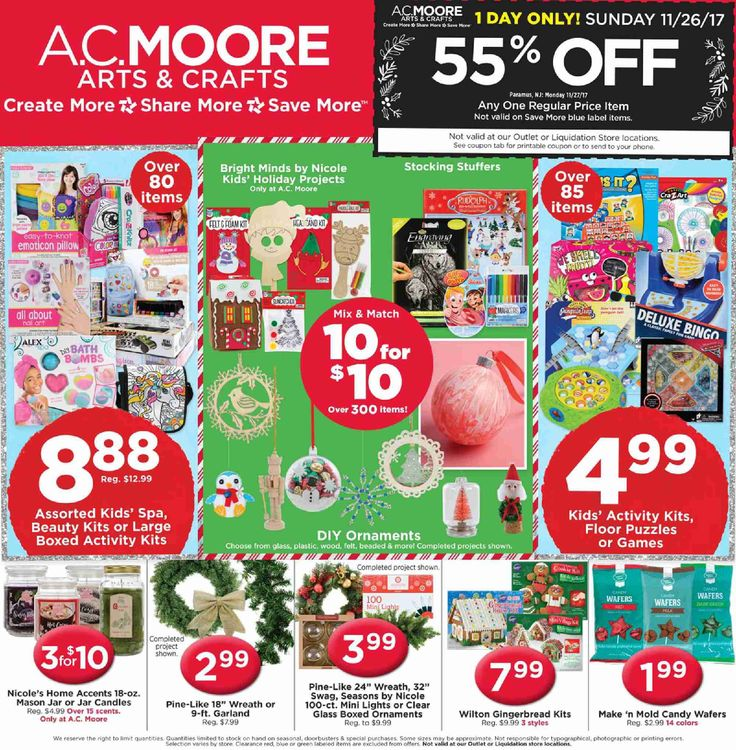 AC Moore Weekly Ad November 26 - December 2, 2017 - http://www.olcatalog.com/home-garden/ac-moore-weekly-ad.html