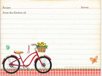 @Gooseberry Patch The Queens of Cookbooks has 3 free recipe card printables. Nab these for your summer recipes!