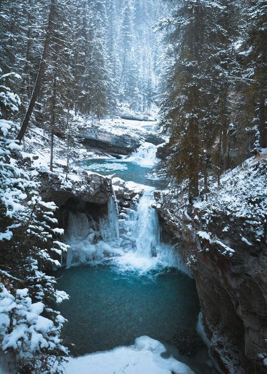 Lower Johnston Canyon Falls, Banff National Park, #Canada