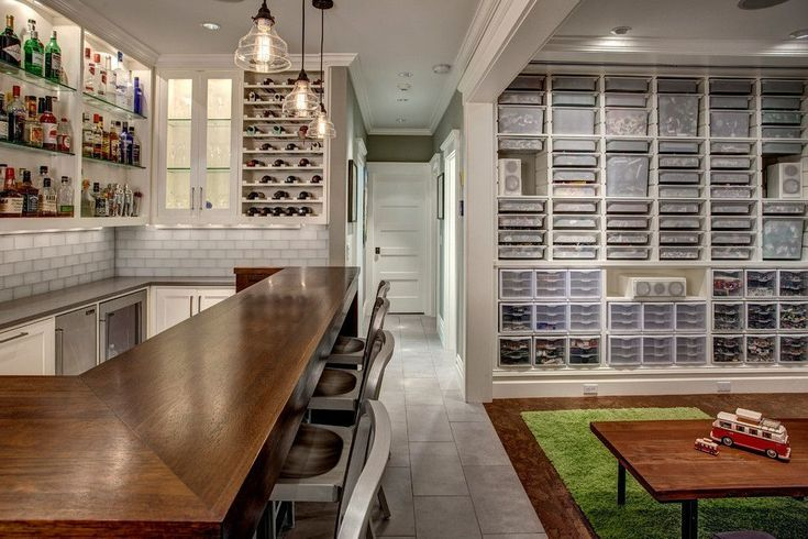 Good Looking lego storage brick in Basement Craftsman with Basement Drop Ceiling next to Low Basement Ceilings alongside Bar Top and Cheap Basement Remodeling Ideas