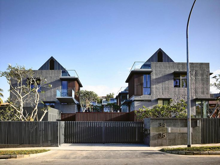 "Toh Crescent cluster housing development of ten semi-detached houses by Hyla Architects Architects: Hyla Architects Location: Toh Crescent, Singapore Year: 2012 Photo courtesy: Derek Swalwell Description: ""In most typical residential developments the living spaces face central communal areas. This blurs the distinction between private and public spaces and results in a loss of privacy for the residents. In …"