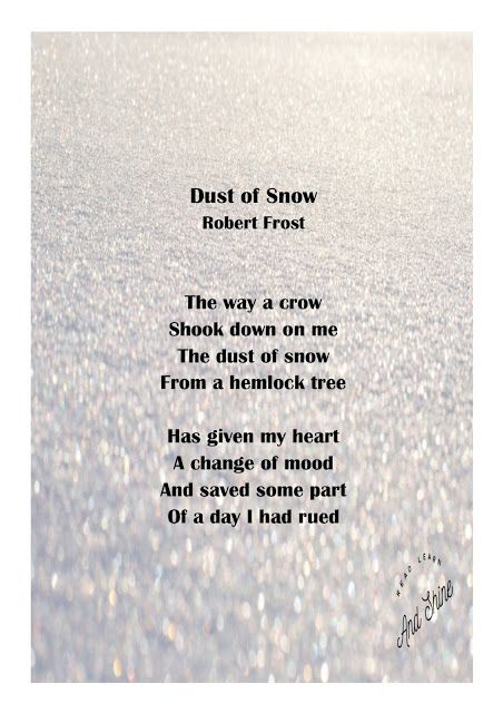 Read, Learn, and Shine: Dust of snow