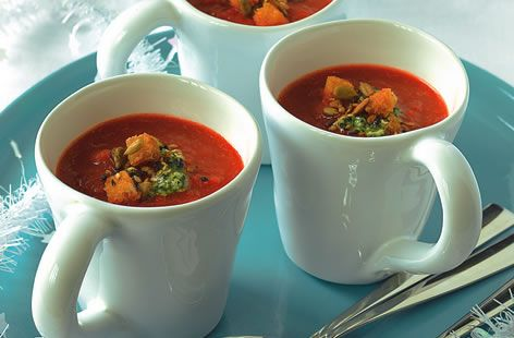 Roasted Red Pepper and Chilli Soup - Tesco Real Food - Tesco Real Food