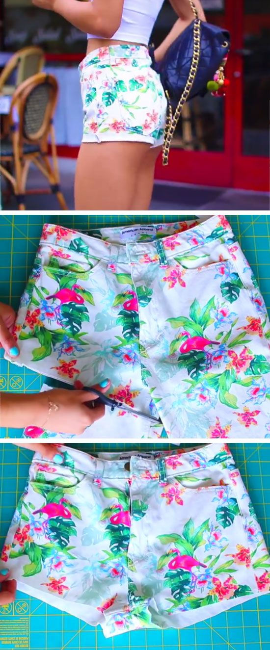 Recycle Pants into Summer Shorts | 15 DIY Summer Clothes for Teens Tumblr | Easy Summer Fashion Ideas for Women to Make