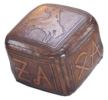 Leather Ottoman Bronco Brands