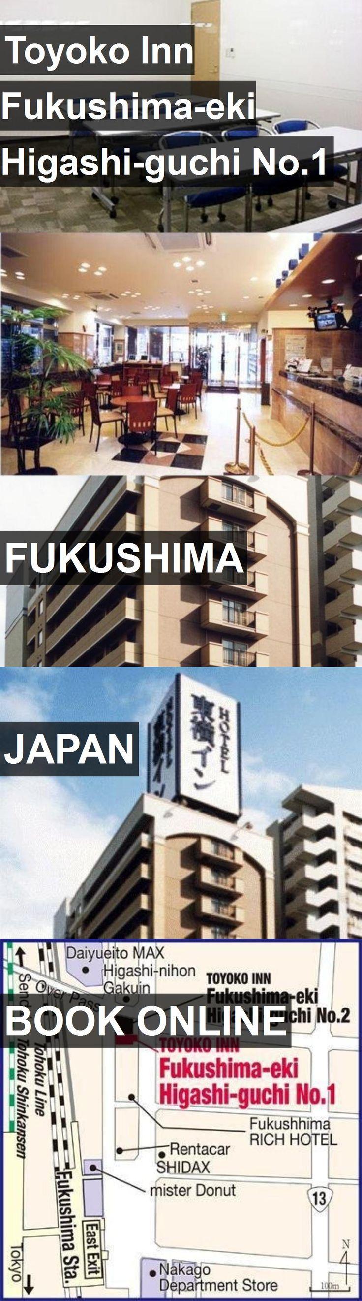 Hotel Toyoko Inn Fukushima-eki Higashi-guchi No.1 in Fukushima, Japan. For more information, photos, reviews and best prices please follow the link. #Japan #Fukushima #travel #vacation #hotel