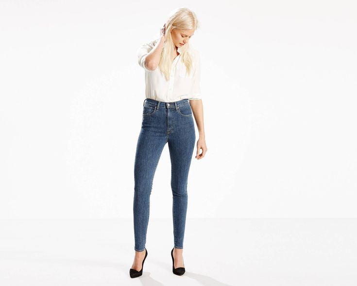Estes jeans que alongam as tuas pernas, são de cintura extra alta e têm uma frente que alisa a barriga. Feitas em ganga elástica e super justas ao longo da anca e coxa, têm a forma elegante e esbelta que procuras.