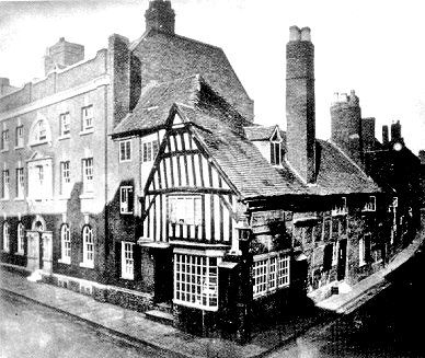 """Lindy Lou"", 19 Victoria Street, in a photograph taken in the 1870's. It is known that the property belonged to Sir Walter Leveson in 1609. Throughout the 17th century is was an inn, the Hand."
