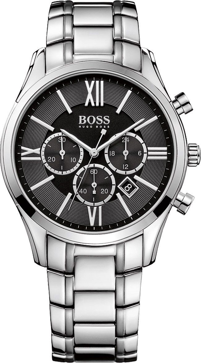 Hugo Boss 1513196 Stainless Steel Mens Watch - Black Dial Sale! Up to 75% OFF! Shop at Stylizio for women's and men's designer handbags, luxury sunglasses, watches, jewelry, purses, wallets, clothes, underwear
