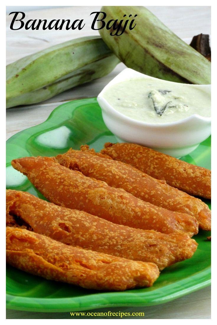 Vazhakkai bajji / Raw banana fritters