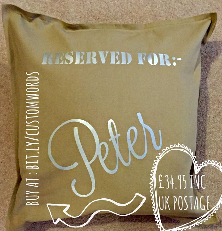 Personalised cushion #vday #etsy esther@weheartcards.com