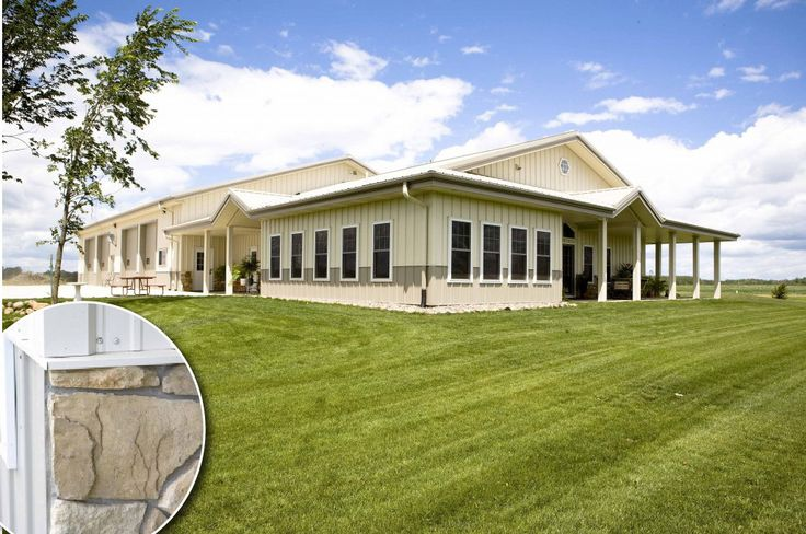 Hillman mn home with a beautiful mix of hi rib steel for Beautiful metal building homes