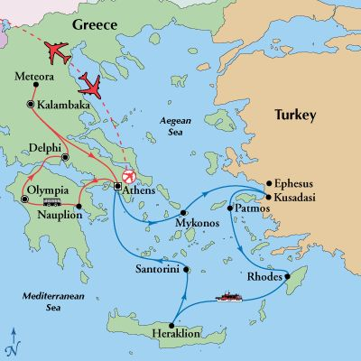 12 Day Classic Greece with 4 Day Aegean Cruise,Greece Tours, Greece Vacation - www.gate1travel.com