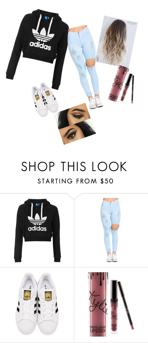 """Every day look"" by maddy-lane235 on Polyvore featuring Topshop, adidas Originals and Kylie Cosmetics"