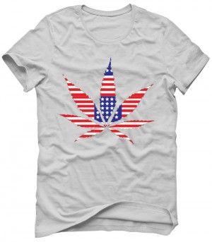 USA WEED FLAGA Koszulka T-Shirt