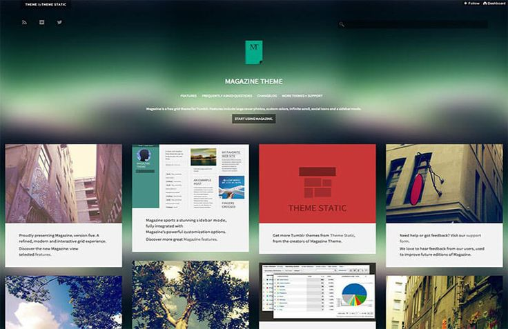 You can download best free responsive tumblr themes that include mobile-friendly, single column, minimal, magazine and photography tumblr themes.