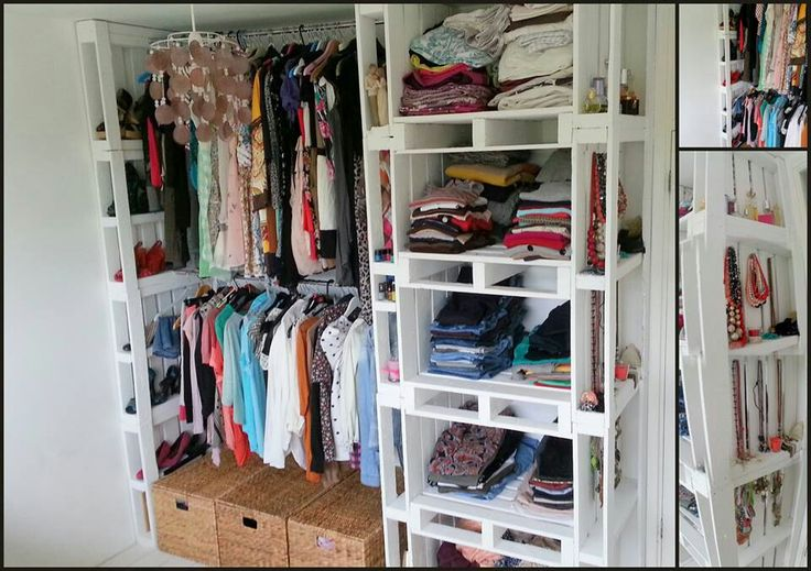 Pallet wardrobe, love it!