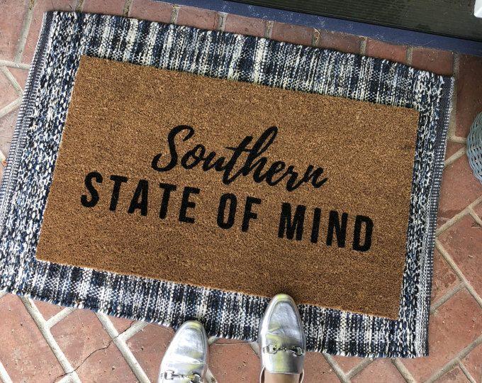 Southern Doormat Funny Doormat Custom Welcome Mat Etsy Door Mat Front Door Mats Country Door Mats