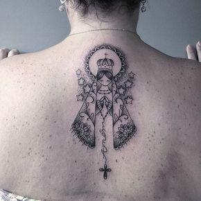 Trabalho! Nossa Senhora Aparecida! referências da Internet. ! #tattoocaldara #tattoo #inspirationtattoo ...