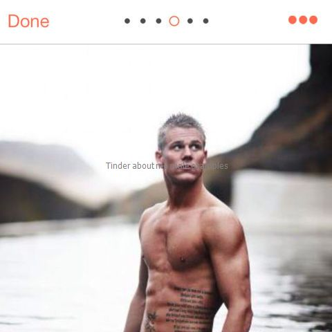 Tinder about me male examples
